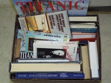 Ocean Liner Related Book & DVD Lot
