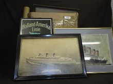 Box Lot of Assorted Ocean Liner Related Prints
