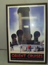 Orient Cruises Poster, Reproduction