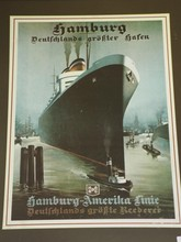 Hamburg America Line Poster, Reproduction