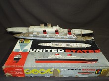 SS United States Model Kit & (2) Boat Models