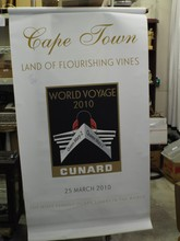 (2) Cunard Queen Mary 2 Hanging Banners
