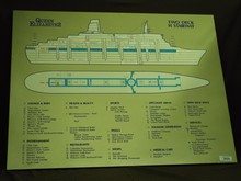 Queen Elizabeth 2, Original Stairway Map