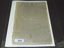 1793 Columbian Centinel Newspaper, Washington