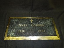 Gary Cooper. Original Memorial Plaque.