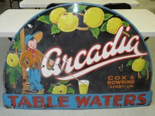 Arcadia Table Waters Porcelain Sign