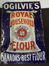 Ogilvies Royal Household Flour Porcelain Sign