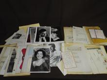Hollywood & Theatre Related Autographe