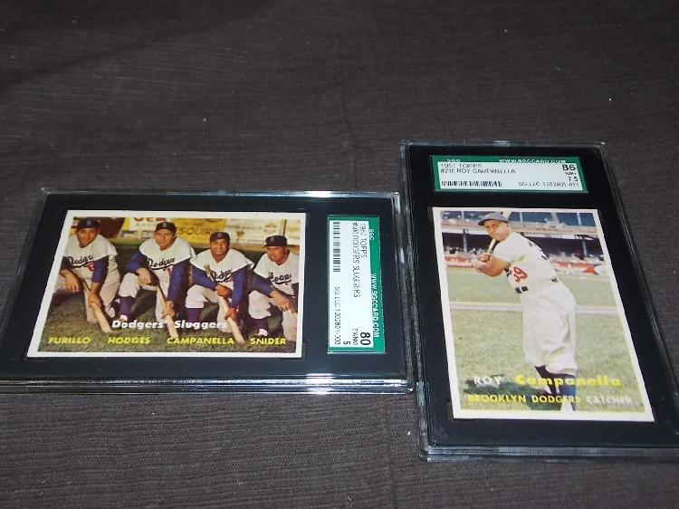 1957 Topps SGC Graded Card Lot.