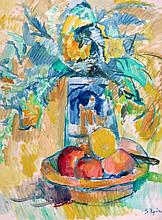 Barbara Rode (Zouzouline), Still Life with Fruit & Flowers