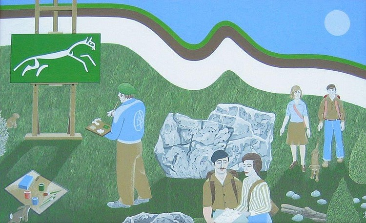 Jack Akroyd Untitled - Hikers and Artist