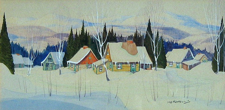 Graham Norwell Cabin in Winter Landscape
