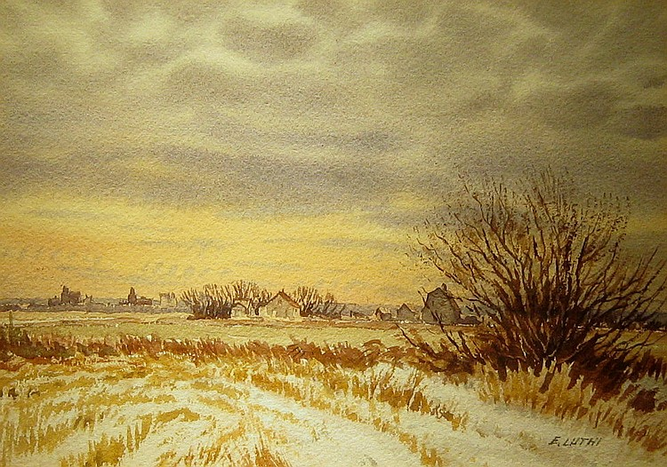 Ernest Luthi Prairie Farm Landscape