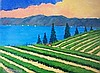 David J. Edwards Lakeside Vineyard, Evening