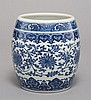 A BLUE AND WHITE 'LOTUS' JAR