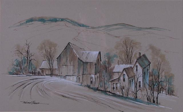 Edward Basker 10.75x17.25 WC/Pastel Early Winter F