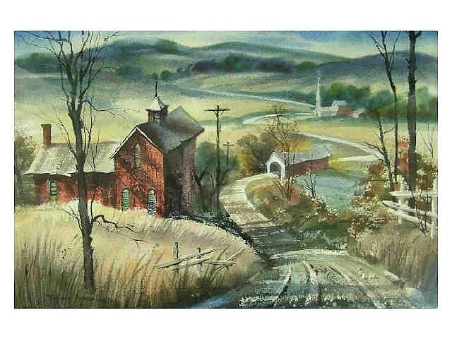 Edward J. Basker (Indiana, 1908-1972), 14.5 x