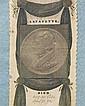 Rare silk Lafayette Memorial, 6 3/4