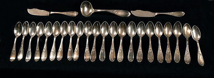 COIN SILVER FLATWARE SET