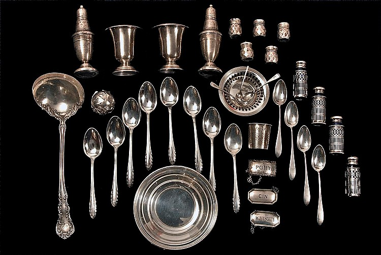 COLLECTION OF STERLING SILVER