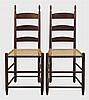 Pair Harvard side chairs, tilters