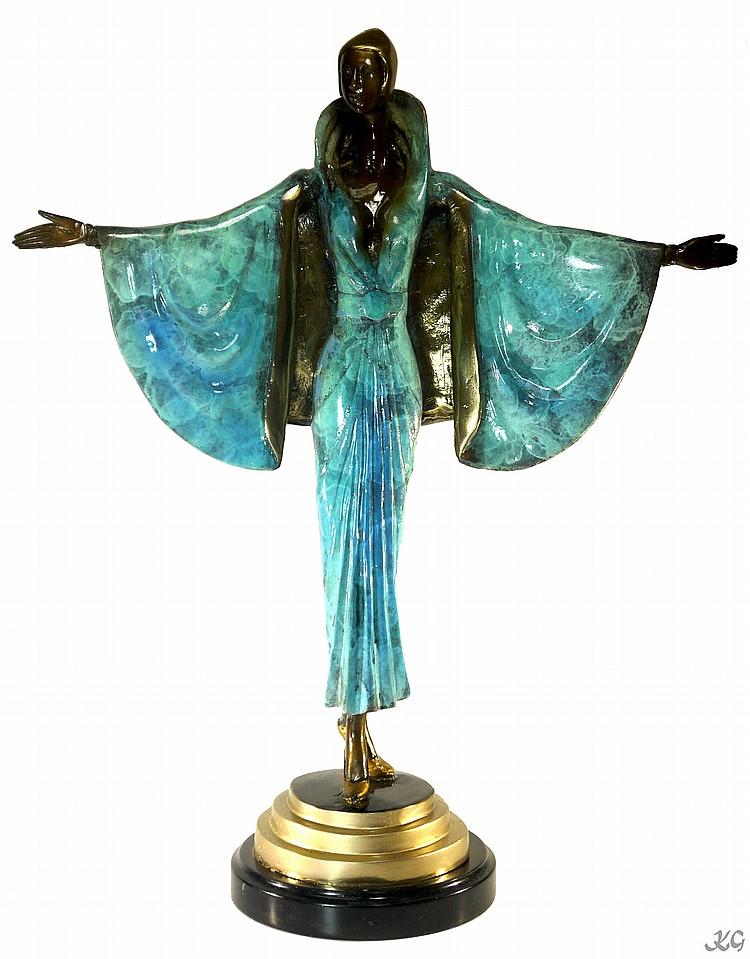 Icart Art Deco Style Bronze W550