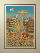 Hiro Yamagata Original serigraph in colors with glazes on paper Signed WB2100