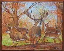 Lois Marie Staples Rare Original Oil on Canvas Signed CJ1400