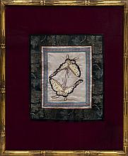 Antique Chinese Embroidery (FRAMED) W155