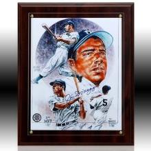 Joe DiMaggio Signed Photo Plaque W341