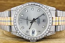Rolex 18K White Gold Tridor 36mm Datejust WA29553