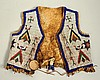 Sioux Child's Beaded Hide Vest