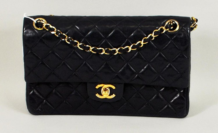 Vintage Navy Blue Chanel Handbag