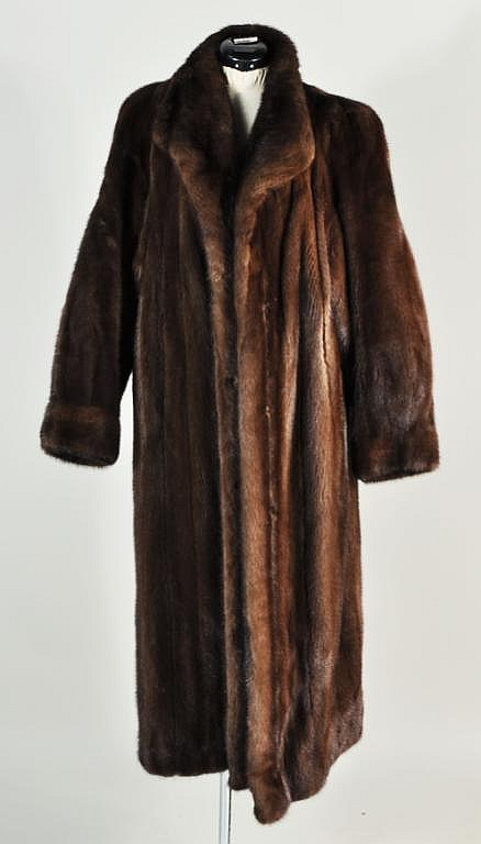 Max Zeller Furs, Full Length Mink Coat & Hat