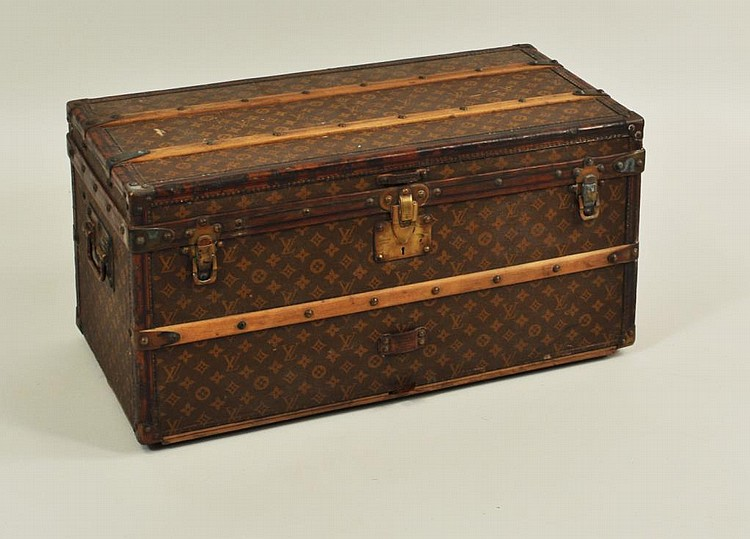 Vintage Louis Vuitton Small Steamer Trunk