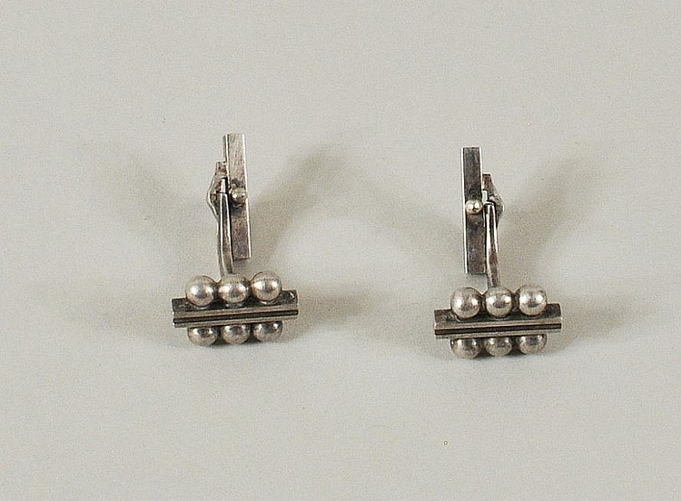 Pair Georg Jensen Sterling Silver Cufflinks