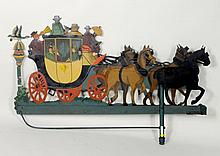Large Painted Sheet Metal Coach Form Inn Sign