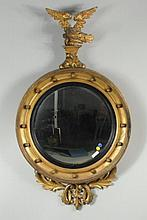 Classical Carved & Gilded Convex Mirror