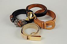 Sterling & Agate Belt Buckle w/3 Exotic Skin Belts