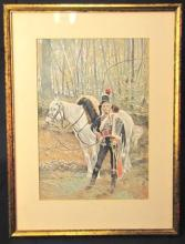 Rare Reproduction of Francois Flameng Painting-S