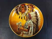 Chief Wolf Plume (plate) by Paul Calle