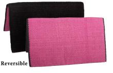 Black Fuschia New Zealand Wool Show Reversible Saddle Blanket [B0446]