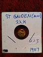 1907 22k Mini St Gauden Miniture 22k gold Saint Gauden replica