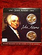 John Adams Dollar; two dollars set John Adams Dollar; two dollars set with history in original package