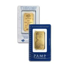 1oz Pamp Suisse - Lady Fortuna in Assay - .9999 Fine Gold