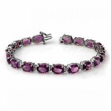 Genuine 22.6 ctw Amethyst Jewelry Bracelet 10K White Gold - SKU#99512 -W37T3