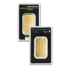 1oz Argor-Heraeus Gold Bar in Assay - .9999 Fine Gold
