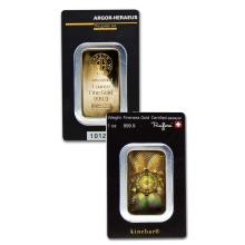 1oz Argor-Heraeus Kine Bar in Assay - .9999 Fine Gold