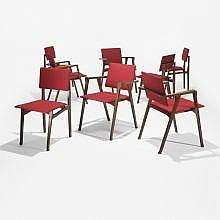Franco Albini Luisa dining chairs, set of eight