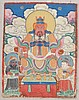 MINIATURE THANGKA WITH GUANDI